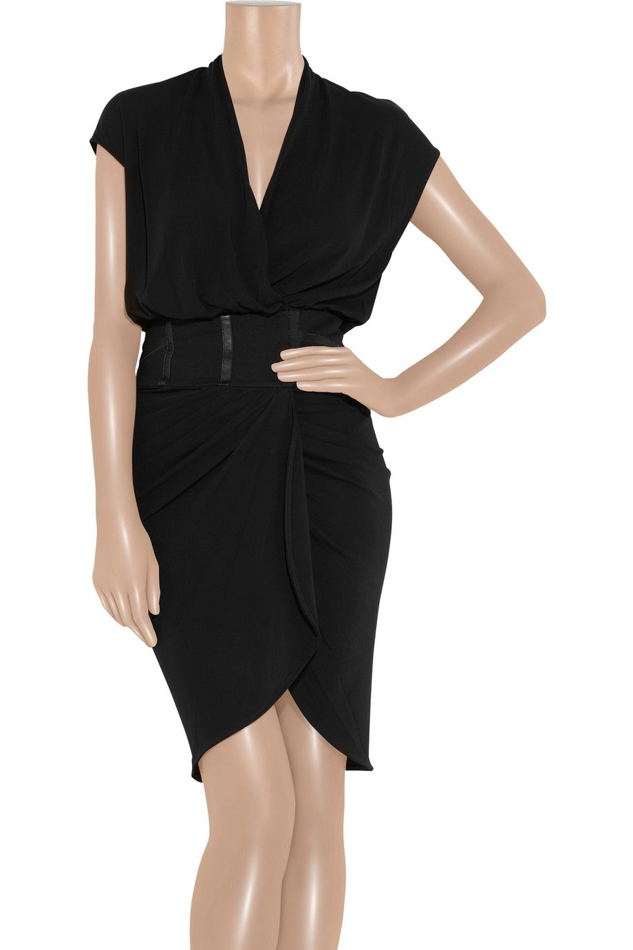 haute hippie crepe-jersey wrap dress