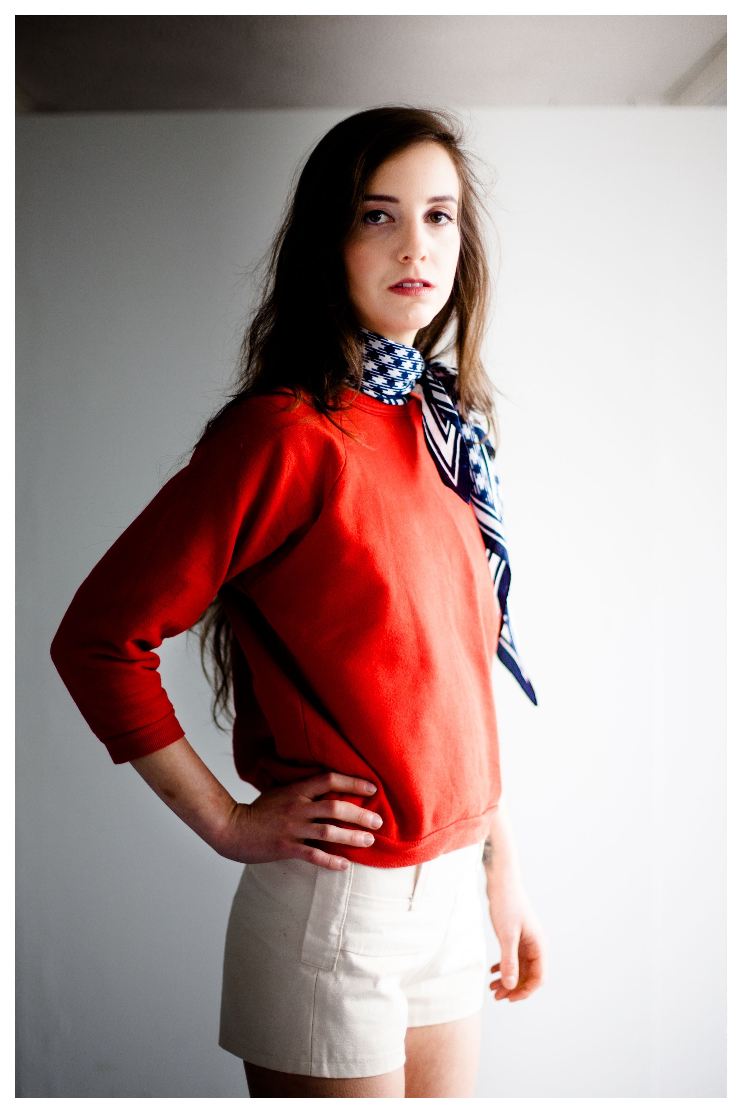 Shorts Design LINA. Photos Magic Hour Video. Model Barbora Gajdošová.  Make Up Karolina Pacholarz.  Stylist LINA.
