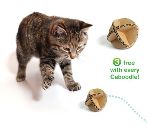 Cat toy inspiration. I have so much cardboard....