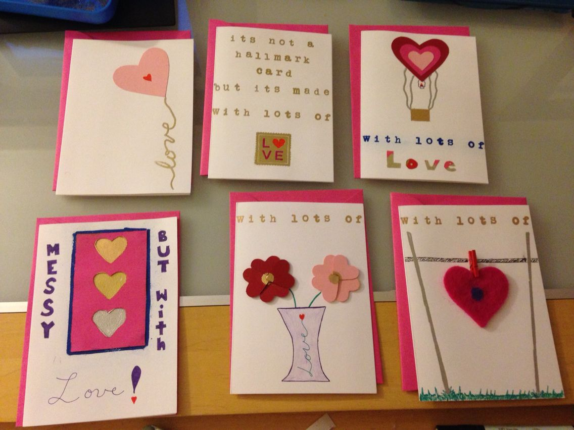 First batch of valentineusfriendshipus day cards trying to get