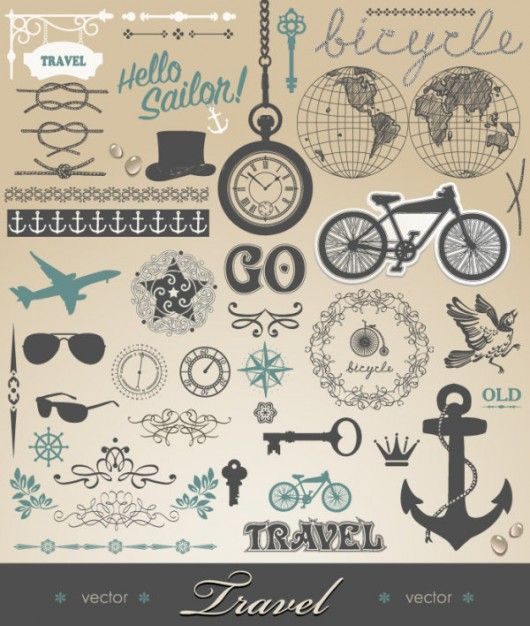 freebies #3   Vintage vectors   Graphic Inspiration   Inspiration of graphic design, typography, design, photography, illustration, web desi...