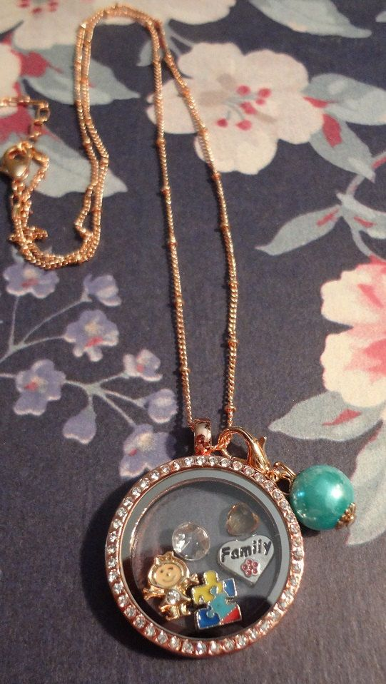 Journey Locket  Autism Awareness by RealCoolTreasures on Etsy
