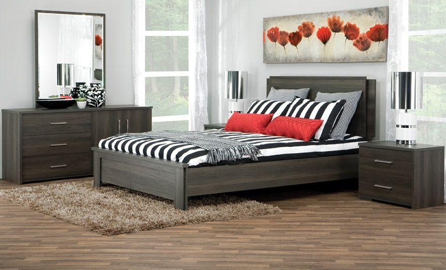D 39 un style contemporain le mobilier de cette chambre for Mobilier de chambre moderne