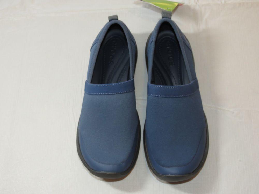 80e0b297959e60 Womens crocs Duet Busy Day 2.0 Satya A-Line shoes W 6 W6 Standard Fit Blue  NWT  Crocs  satyaaline