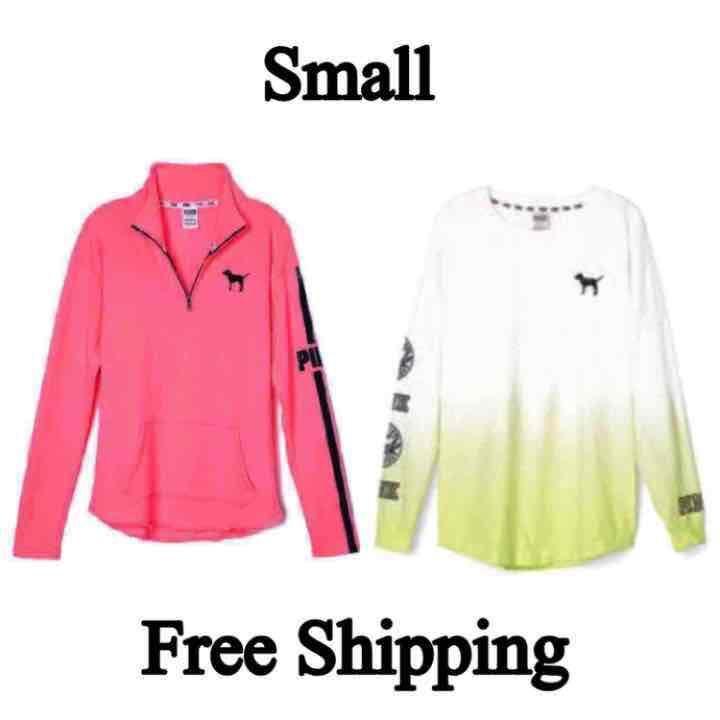 VS PINK✨SMALL✨(2) Shirt BUNDLE - Mercari: Anyone can buy & sell