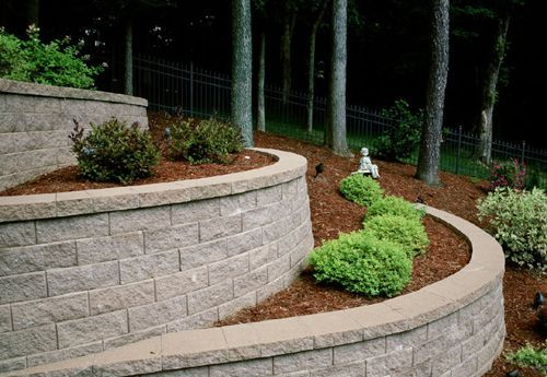 Versa Lok Standard Unit At Lincoln Way Landscape Supply Landscaping Retaining Walls Sloped Garden Garden Front Of House
