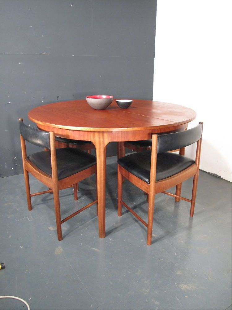 MCINTOSH TEAK DINING TABLE AND CHAIRS. DANISH. Retro 60s 70s eames ...