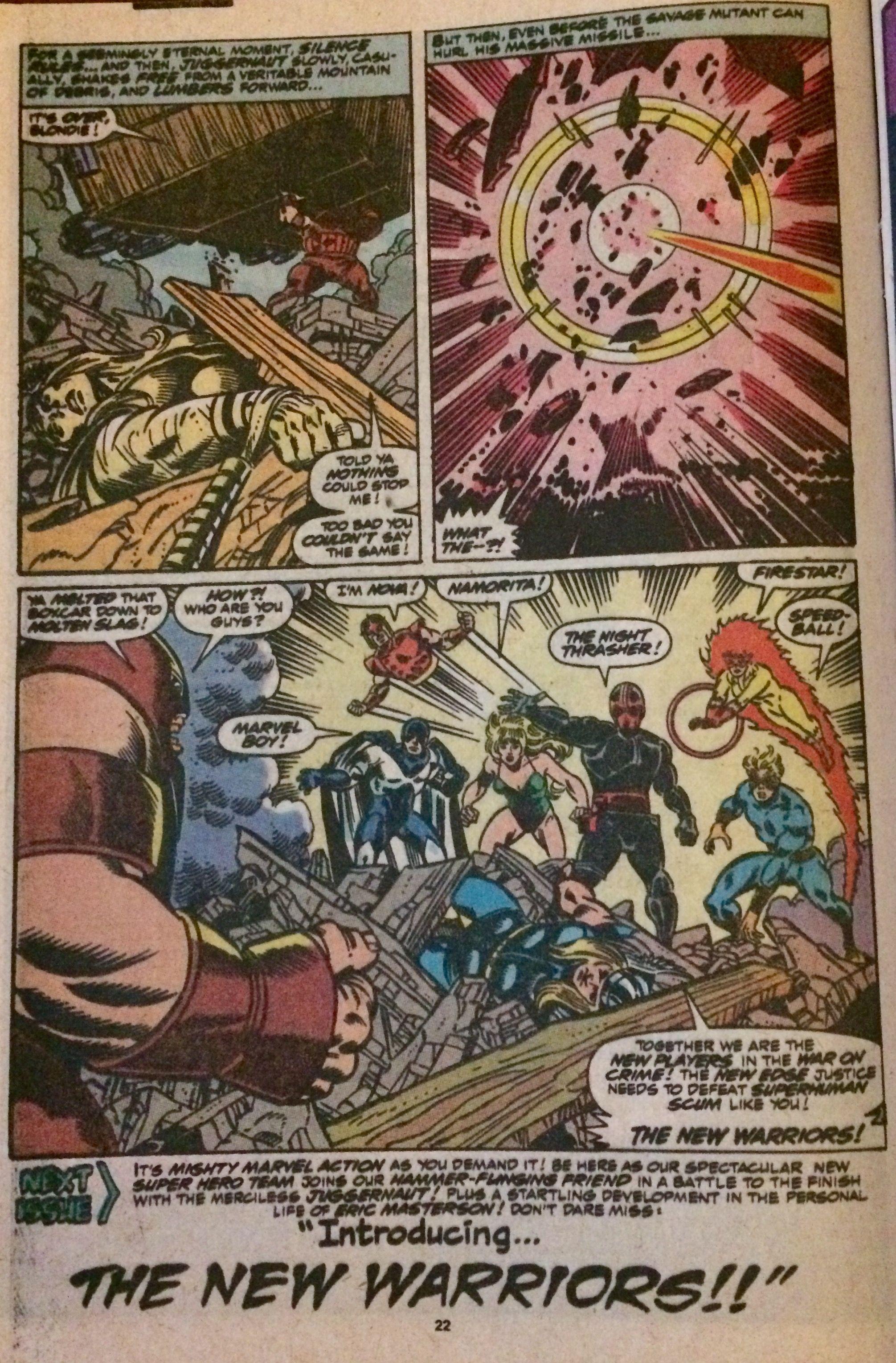 Juggernaut vs The New Warriors-1989