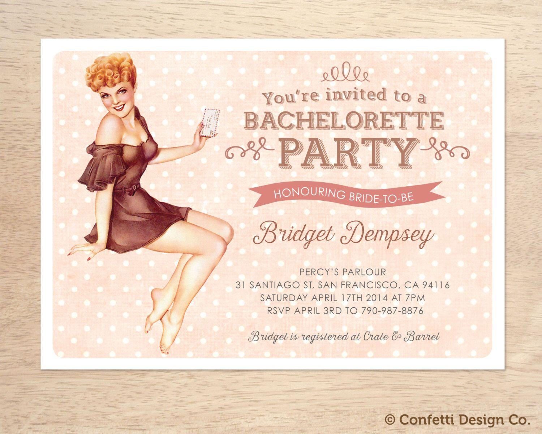 Custom Bachelorette Party Invitations 15th birthday party invitations – Vintage Bachelorette Party Invitations