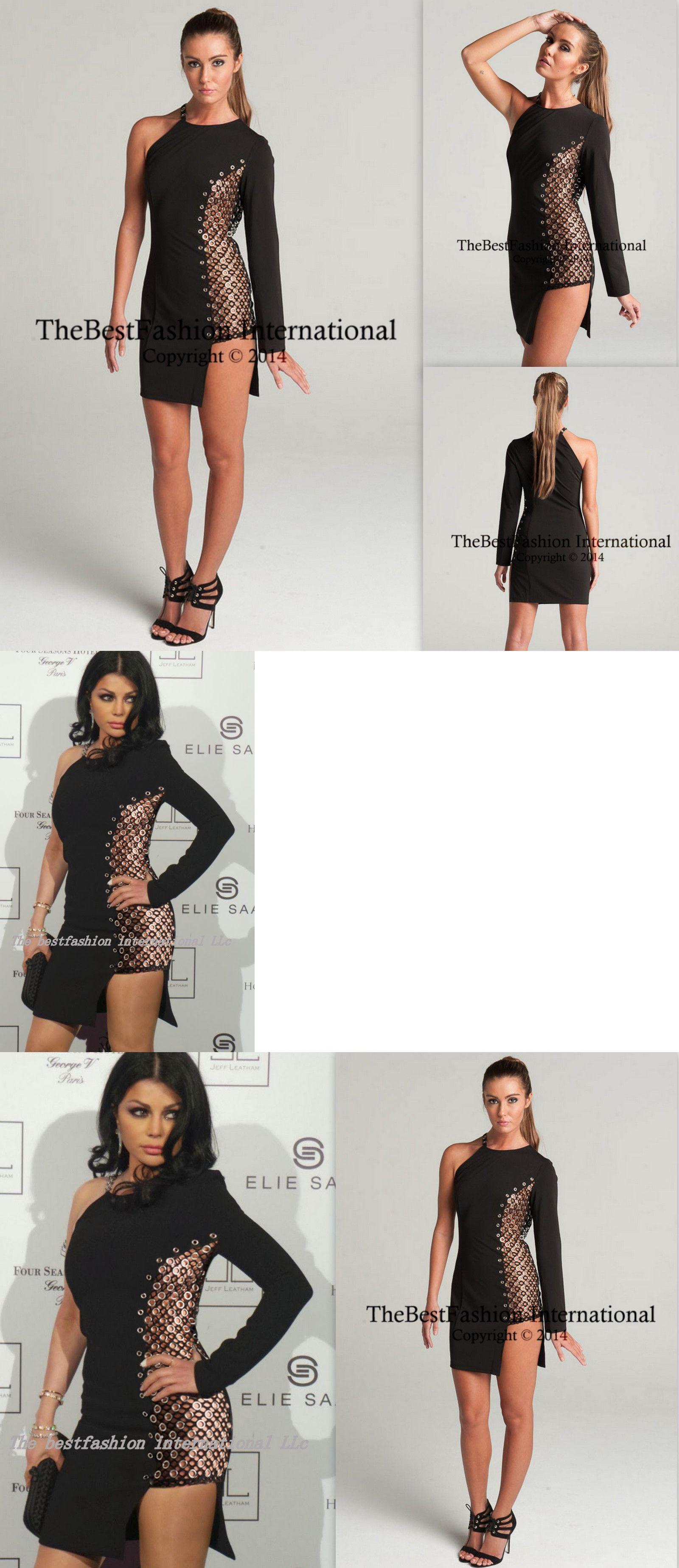 Celebrity dresses women celebrity metal black long sleeve evening
