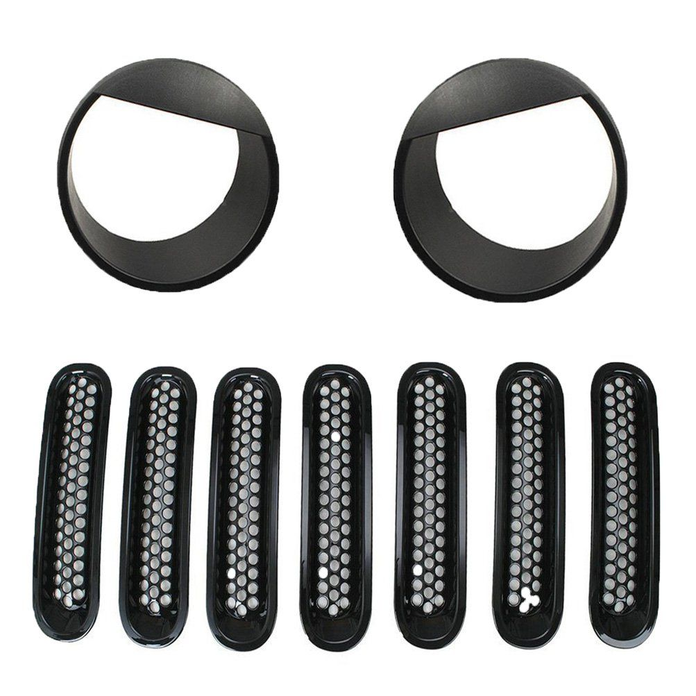 Fuway 2015 Latest Black Front Grill Mesh Grille Insert Kit