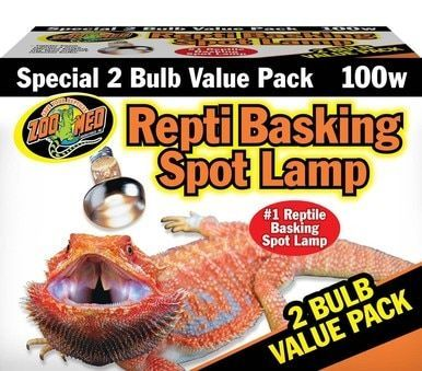 Zoo Med Repti Basking Spot Lamps 100w Unique Patented Double Reflector Beam 2pk Zoo Med Reptiles Reptile Lights