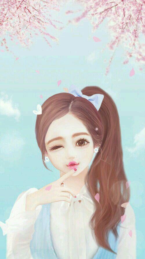 Cute Animated Girl Wallpaper Download Beautiful Girl Cartoon