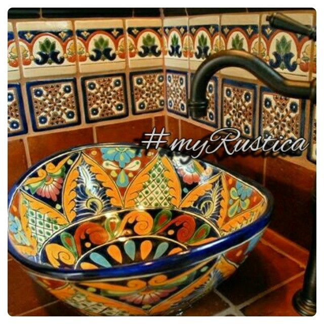 Rustica House ® Talavera Sinks From Mexico For Rustic