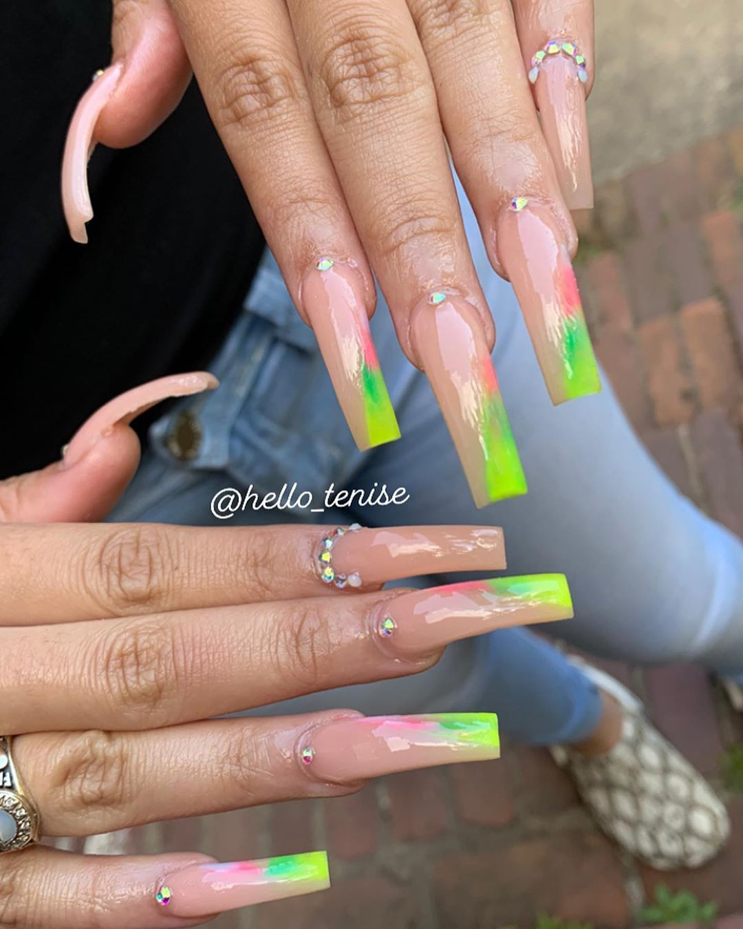 Teniseee A On Instagram Accepting New Clients After July 1st Classes Are Always Available In 2020 Artificial Nails Square Acrylic Nails Acrilic Nails