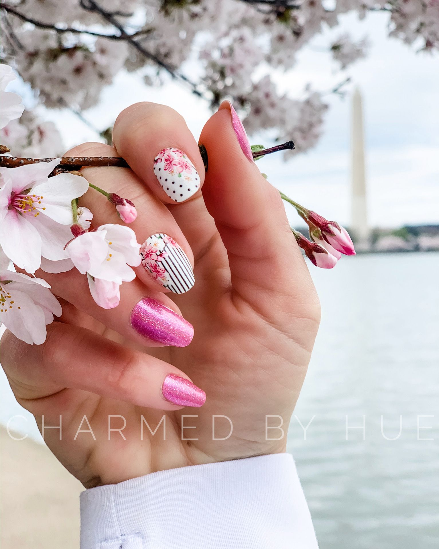 Cherry Blossom Manicure Color Street Nails Manicure Beautiful Nail Designs