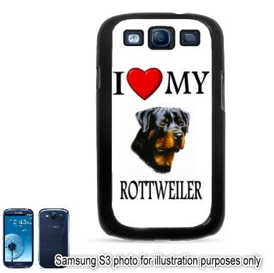 Rottweiler I Love My Dog Photo Samsung Galaxy S3 S Iii i9300 Case Cover Hard Shell Back Skin by BlingSity, $11.95