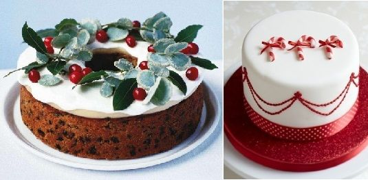 Christmas cakes decorating ideas from bbc good food left and christmas cakes decorating ideas from bbc good food left and little venice forumfinder Images