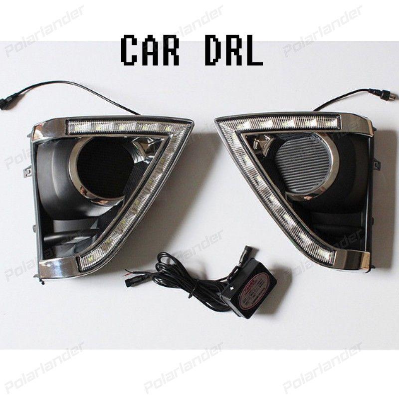 2 Pcs 12v 6000k Car Drl Waterproof Turn Signal Led Daytime Running Lights Fog Lamp For T Oyota Vi Os 2014 2015 Running Lights Fog Lamps Lights