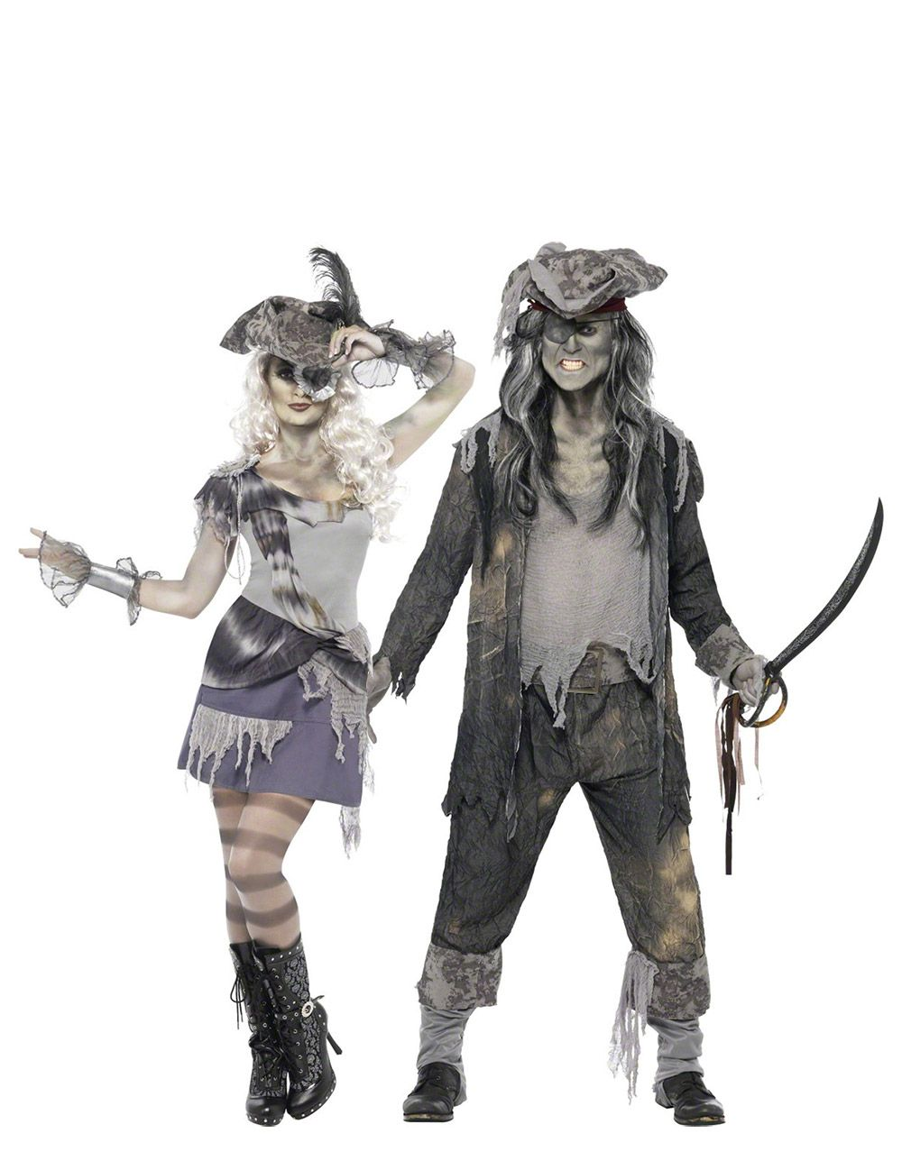 D guisement de couple fant me pirate halloween halloween couple halloween halloween make up - Fantome halloween ...