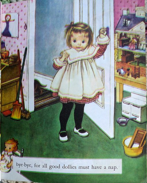 the last five pages of My Dolly and Me by Eloise Wilkin | Flickr - Photo Sharing!