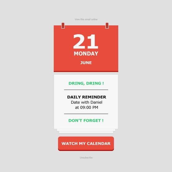 Calendar : http://stamplia.com/html-email-template/transactional ...