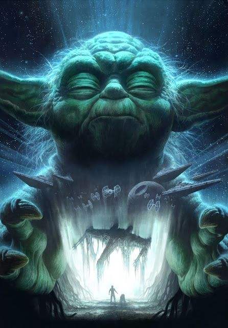 Coolart Star Wars Yoda Print By Fabian Schlaga For Sideshow Collectibles Star Wars Painting Star Wars Awesome Star Wars Canvas Art