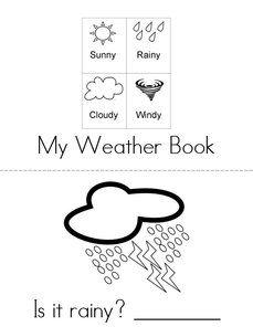 free printable mini books for preK/K What's the weather