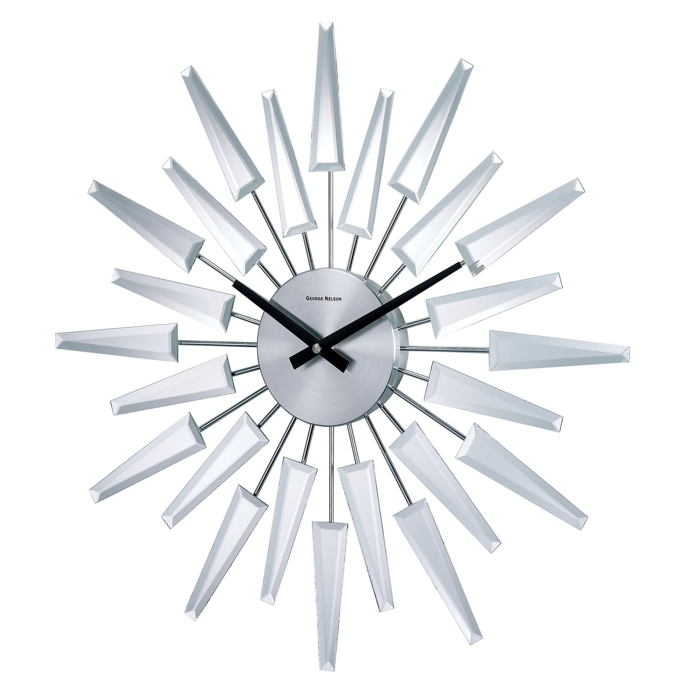 Mirrored Starburst Clock