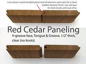We Offer Our Red Cedar Tongue Groove