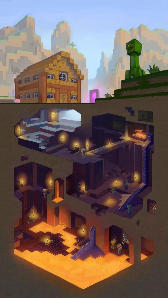 make a minecraft wallpaper