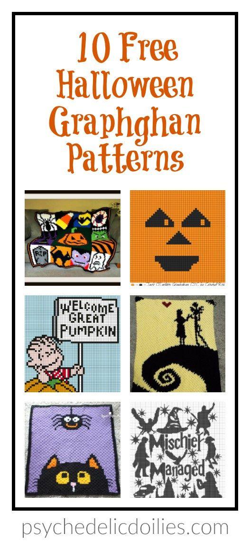 10 Free Halloween Crochet Graphghan Patterns