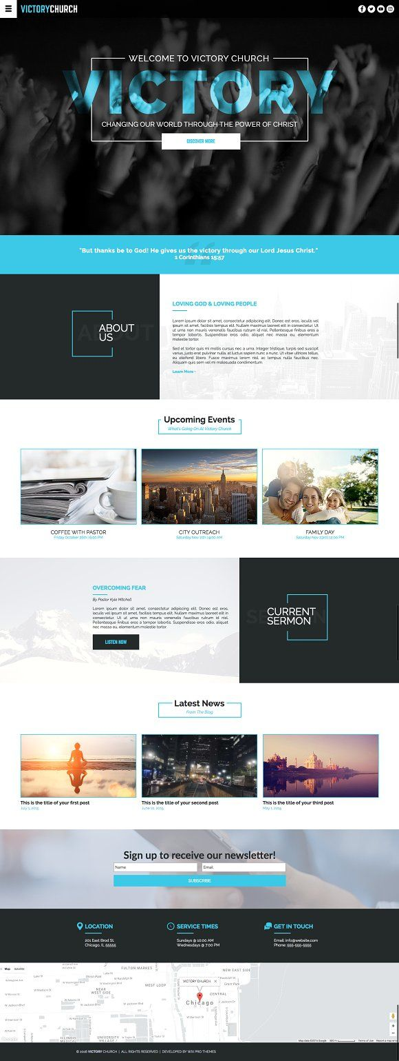Church Website Theme By Wix Pro Themes On Creativemarket Web