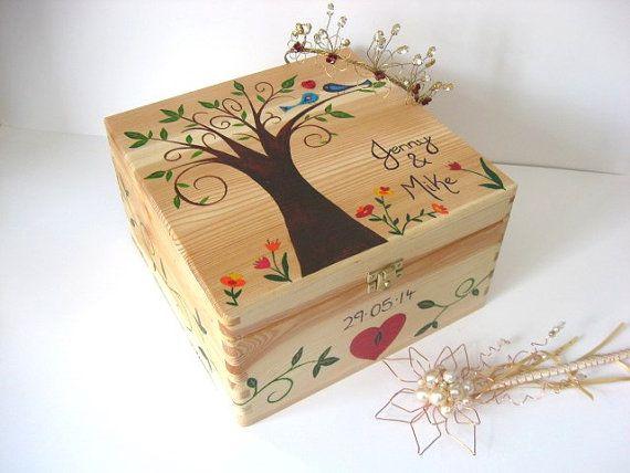 X Large Wedding keepsake box, Wedding memory box, Personalised ...