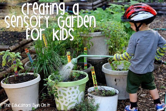 Creating a sensory garden for kids #outdoorplay | KIDS CRAFTS ...