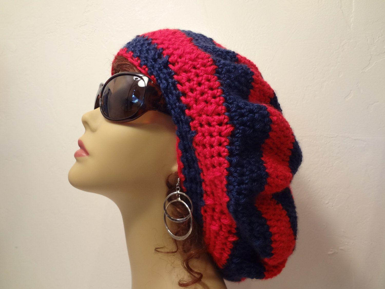 Rasta Hat - Crocheted Bob Marley Rasta Slouchy Dread Hat - Crown Hat ...