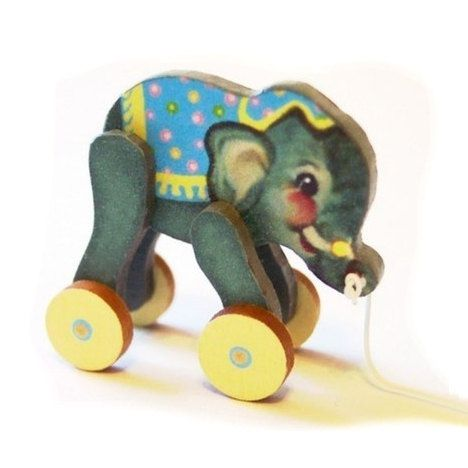 Baby Elephant Toy KIT Dollhouse Miniature by TwelfthDimension, $8.50 // I didn't know, til I started collecting nursery ideas, that I had such a thing for elephants...