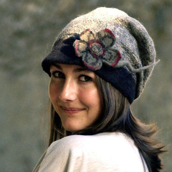 felt casket rasta cap style hat merino wool handmade in by jannio, $82.00