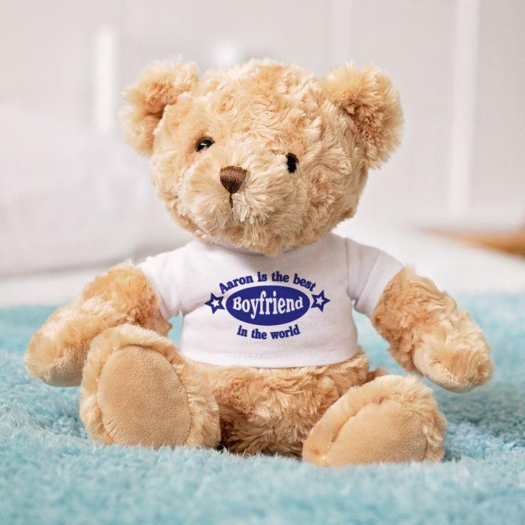 Best boyfriend personalised valentines day teddy bear