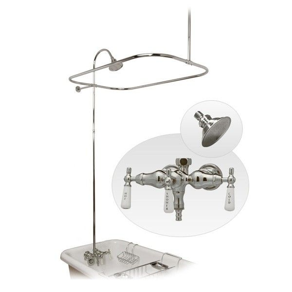 Shower Attachment For Clawfoot Tub Wall Mounted Shower Enclosure - Clawfoot tub shower fixtures