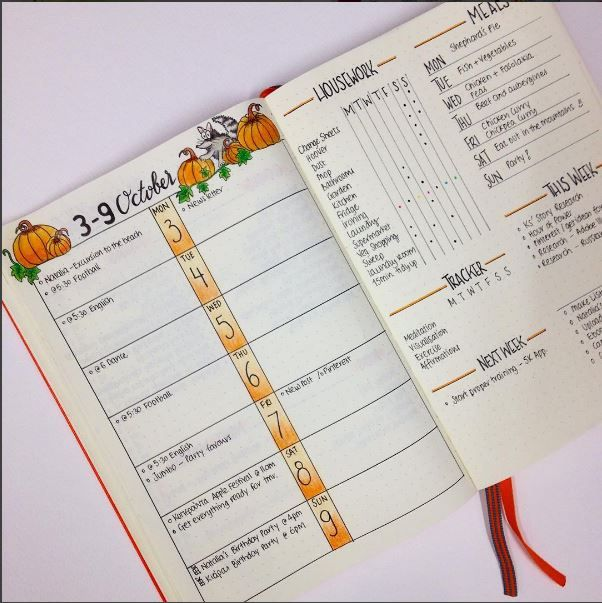 weekly spread ideas for your bullet journal. Black Bedroom Furniture Sets. Home Design Ideas