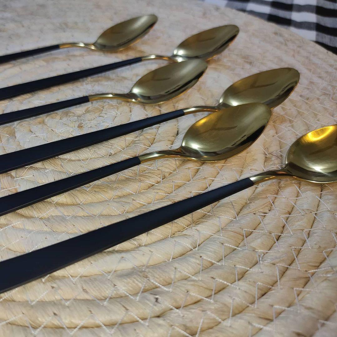 بيت العائلة On Instagram سيت ملاعق حلويات السعر ٤ آلاف توصيل بغداد 5 الاف توصيل المحافظات 7 آلاف بيت العائلة تسوق اونلاين العراق اك Tableware Kitchen Spoon