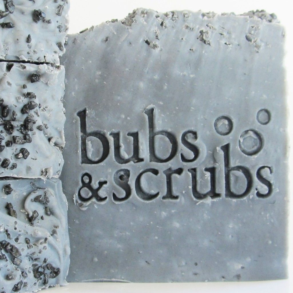 Activated charcoal soap by Bubs and Scrubs of Doylestown, PA