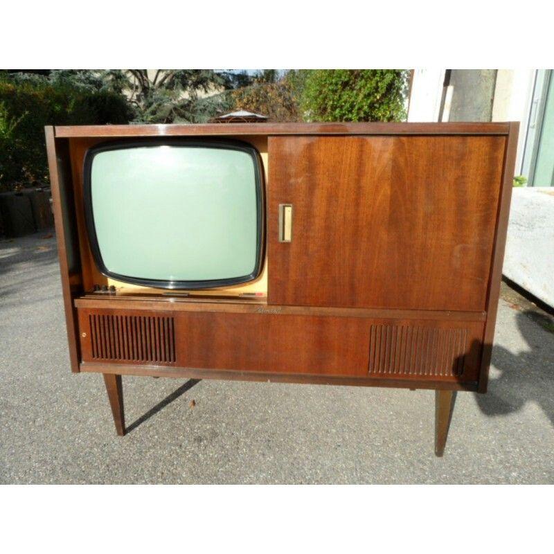 Meuble Tele Les Annees 50 60 Console Retro Box Tv
