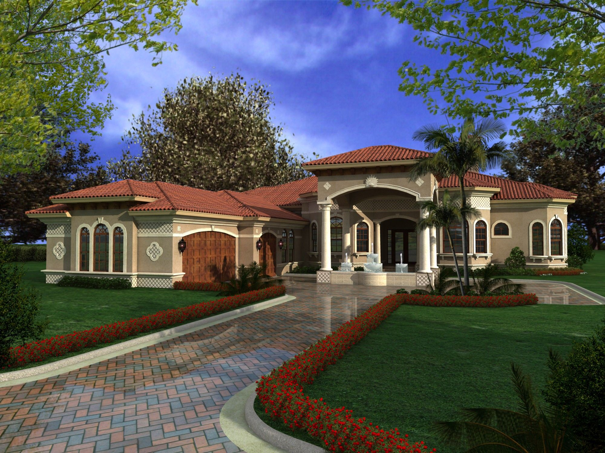 Luxury Mediterranean Style 32065AA Architectural Designs