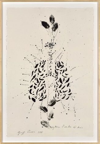 Giuseppe Penone, Respirare l'ombra del leccio, 1998 – Works on paper, Indian ink on Japanese paper, 95.5 x 63.5 cm