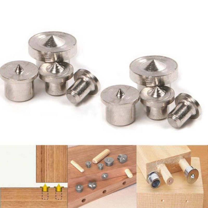 8in 1 Kit Dowel Pins Center Point Woodworking Craft Clamp Steel Tool 6//8//10//12mm