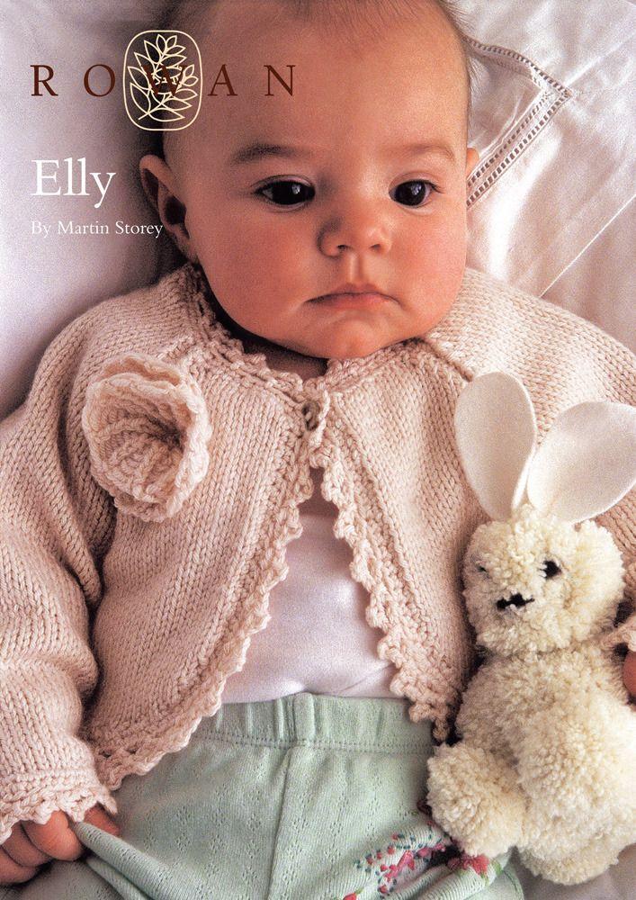 Elly Baby Cardigan in Rowan Baby Merino Silk DK | Knitted baby ...