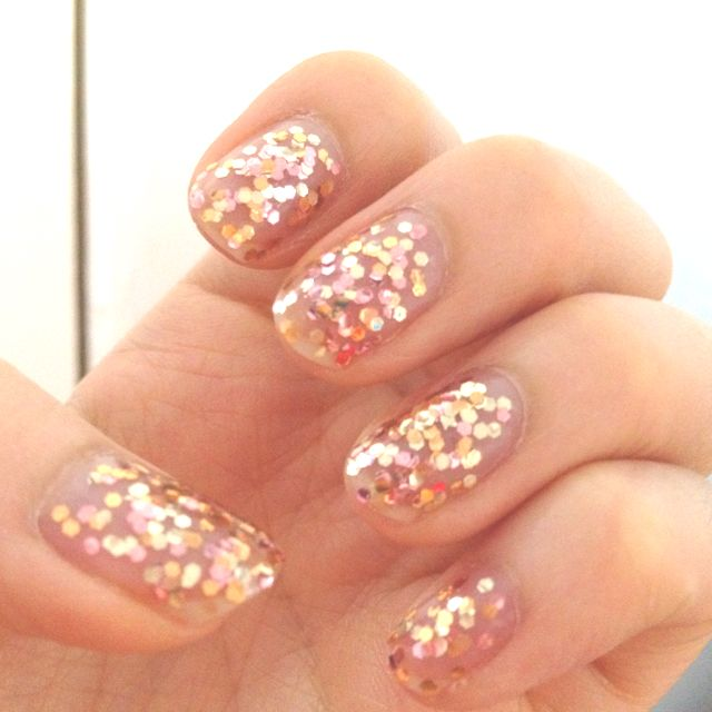 Rose gold metallic nails | Hair Nails Eyes and beauty | Pinterest
