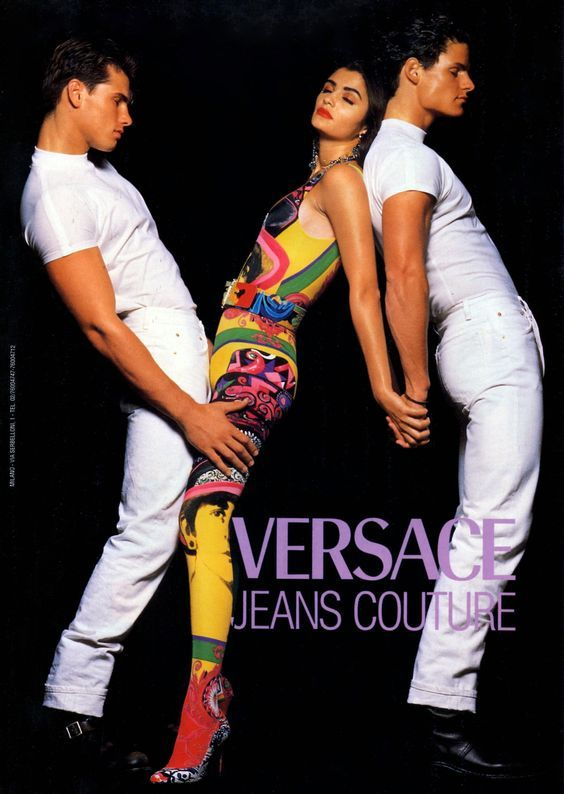 3d20496e9e2 Helena Christensen for VERSACE Jeans Couture 90 s